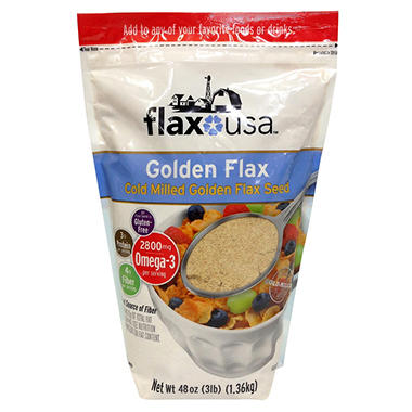 Flax Seed - Pre Ground Golden - 48 oz.