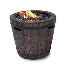 Wine Barrel Fire Pit, Assorted Colors