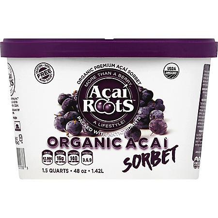 Acai Roots Organic Premium Acai Sorbet (48 oz.)