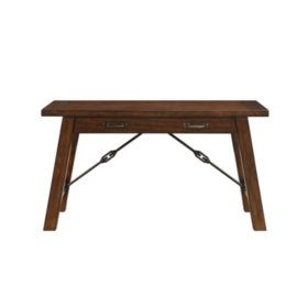 Dressler Solid Wood/Metal Writing Desk, Birch Finish