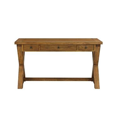 Anderson Solid Wood Writing Desk, Alder Finish