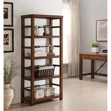 Patterson 4-Shelf Bookcase, Oak