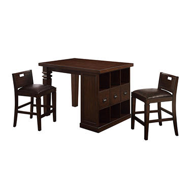 Bedford Project Table with 2 Matching Barstools
