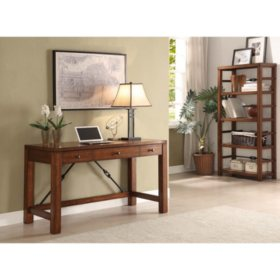 Patterson Oak Finish Office Furniture Collection, Writing Desk or Bookcase