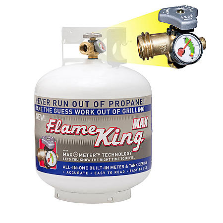 Flame King 20-lb. Propane Cylinder with Overfill Protection Device Valve and Built-in Gauge (ships empty)