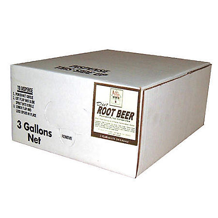 Willtec Diet Root Beer Bag In Box Syrup (3 gal. box)