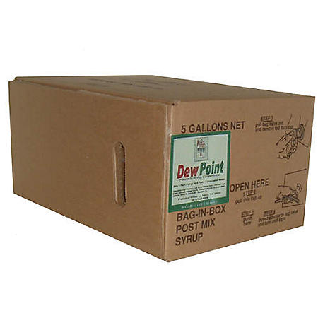 Willtec Dew Point Bag In Box Soda Syrup Concentrate (5 gal. box)