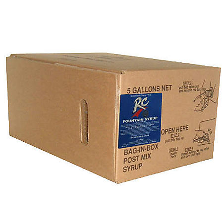 Willtec RC Cola Bag In Box Soda Syrup Concentrate (5 gal. box)