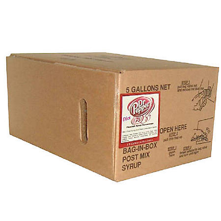 Willtec Diet Dr Pepper Bag In Box Soda Syrup Concentrate (5 gal. box)