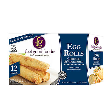 Feel Good Foods Chicken Egg Rolls (36 oz., 12 ct.)