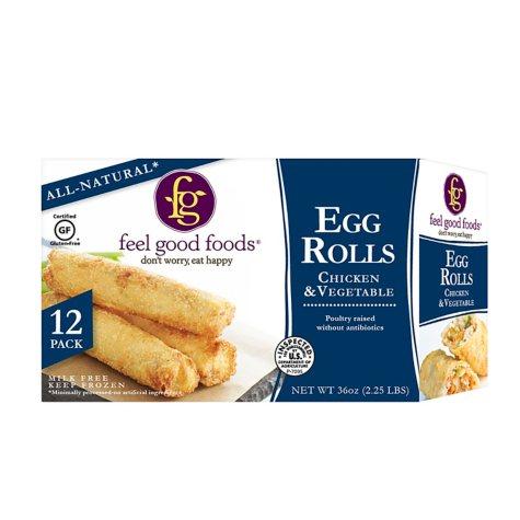 Feel Good Foods Chicken Egg Rolls (36 oz., 12 ct.)