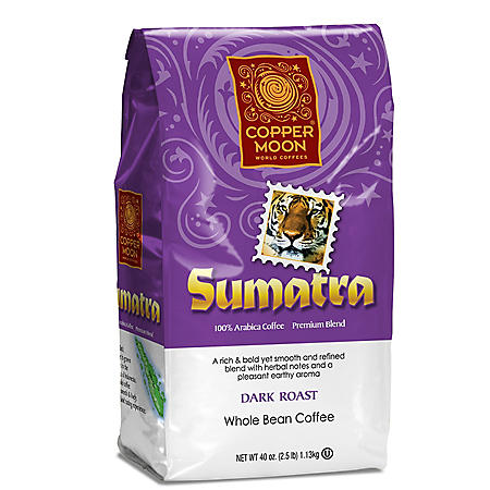 Copper Moon Sumatra, Dark Roast, Whole Bean Coffee (2.5 lb.)