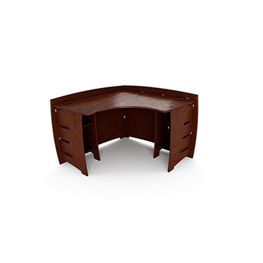 Bamboo Corner Desk - Espresso Ash Finish - 60