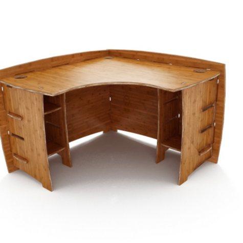 "47"" Corner Desk - Amber Bamboo"