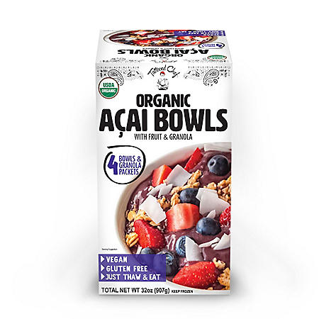 Tattooed Chef Organic Acai Bowl With Fruit and Granola, Frozen (4 ct.)