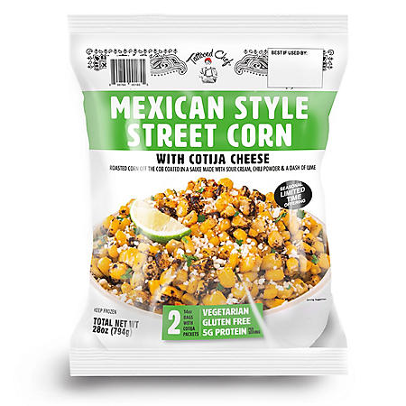 Tattooed Chef Mexican Style Street Corn, Frozen (2 pks.)