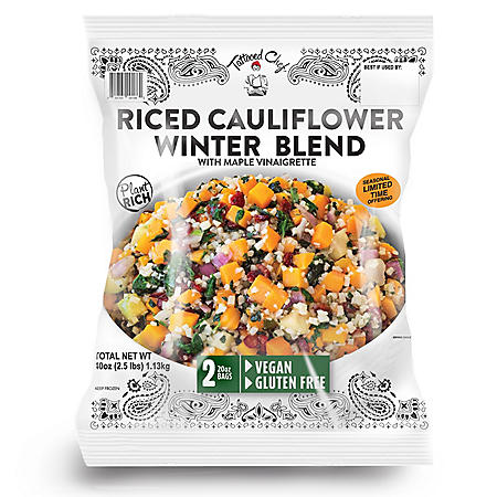 Tattooed Chef Riced Cauliflower Winter Blend, Frozen (40 oz.)