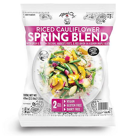 Tattooed Chef Riced Cauliflower Spring Blend, Frozen (2 pk.)