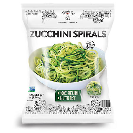 Tattooed Chef Green Zucchini Spirals, Frozen (42 oz.)