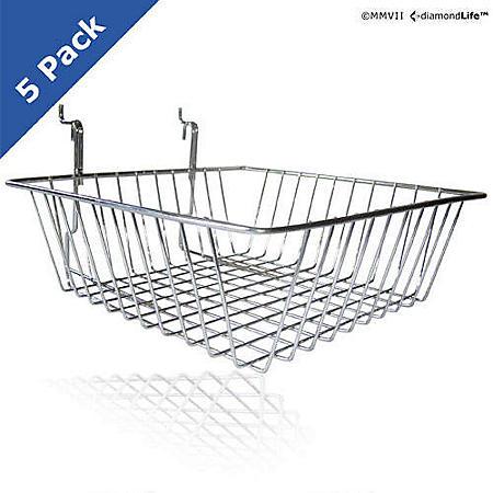 SlatWall / PegBoard Baskets - 5 pk.