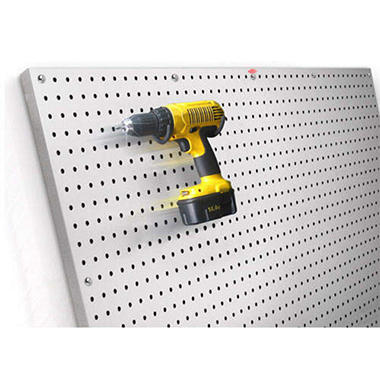 PegBoard X2 - 4' x 4' Brushed Aluminum Panel