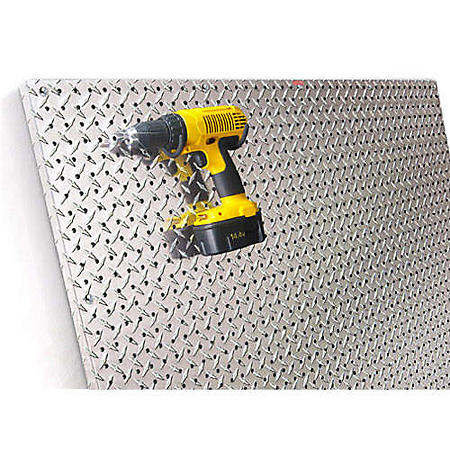 PegBoard X2 - 4' x 4' Diamond Plate Panel