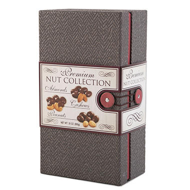 Wine Country Gift Baskets Premium Nut Gift Box (Various Colors)