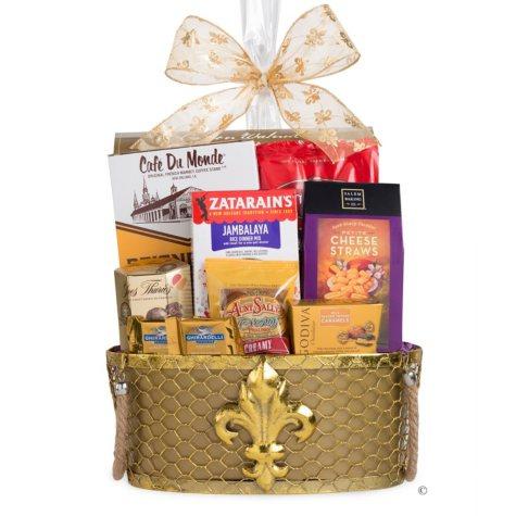 Mardi Gras Gift Basket
