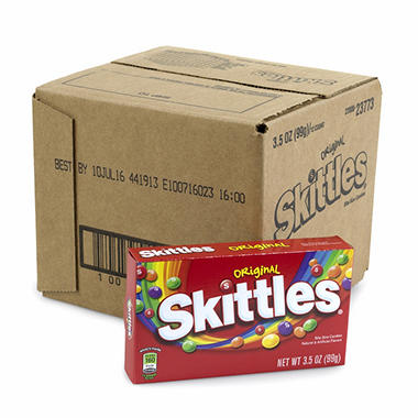 Skittles Original Theater Box 4 oz. (12 ct.)