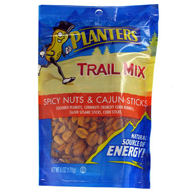 Planters Trail Mix Spicy Nut and Cajun Tube - 6 oz.(12 ct.)