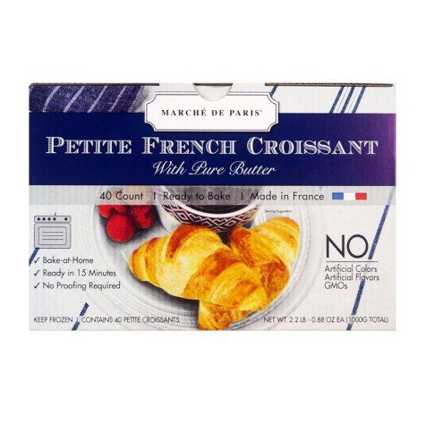 Marche de Paris Petite French Croissants (40 ct.)