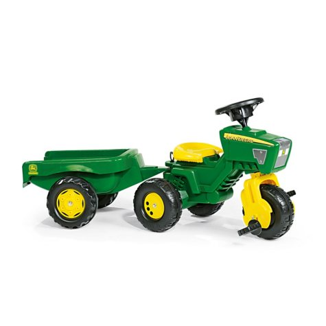John Deere 3-Wheel Trac with Trailer