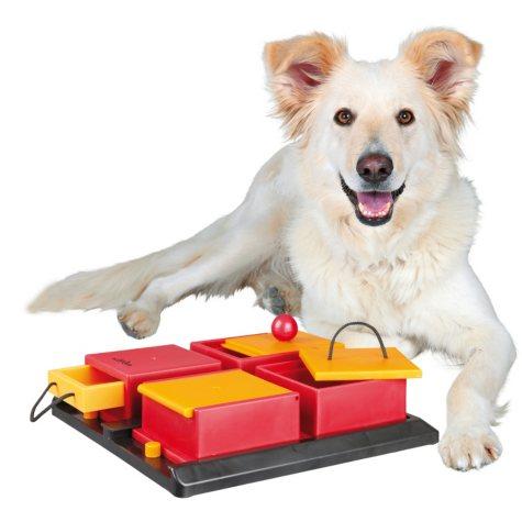 "Trixie Poker Box Activity for Dogs, Intermediate (12"" x 12"")"
