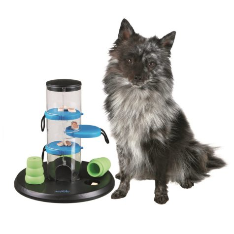 """Trixie Gambling Tower Activity for Dogs, Beginner (9.75"""" x 9.75"""" x 10.5"""")"""