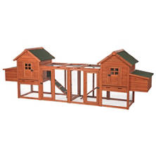 "Trixie Chicken Coop Duplex with Outdoor Run (123½"" x 27½"" x 42½"")"