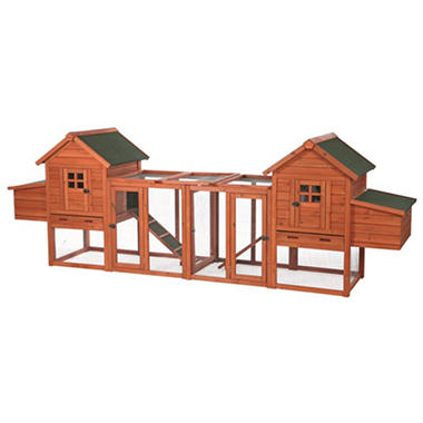 Trixie Chicken Coop Duplex with Outdoor Run (123½
