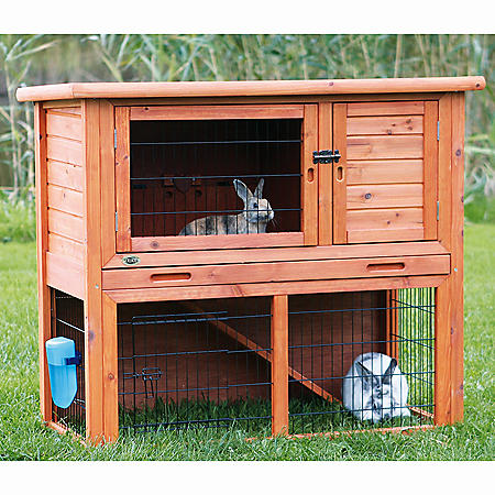 """Trixie Rabbit Hutch with Sloped Roof, Medium (40.75"""" x 20.25"""" x 38"""")"""