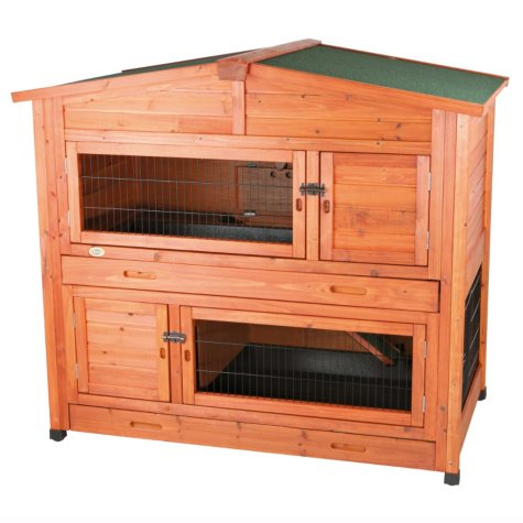 """Trixie 2-Story Rabbit Hutch with Attic, Large (52.25"""" x 32.5"""" x 47"""")"""