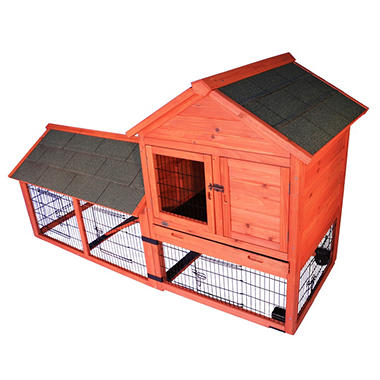 Trixie Rabbit Hutch with Outdoor Run and Wheels (78.25