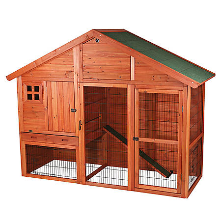 """Trixie Rabbit Hutch with Gabled Roof (76.25"""" x 31.5"""" x 59.75"""")"""