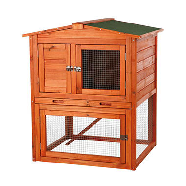 Trixie 2-Story Rabbit Hutch with Gabled Roof (32.5