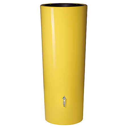 High Gloss Elegance 92-Gallon Rain Barrel with Planter, Assorted Colors