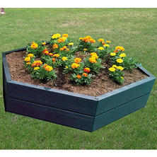 "Modular 10""H Hexagon Raised Garden Bed"