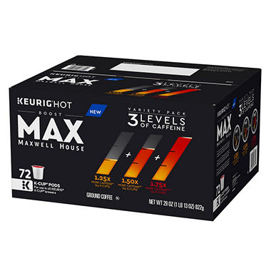 Maxwell House Max Boost K-Cup Variety Pack (29 oz. ea., 72 ct.)