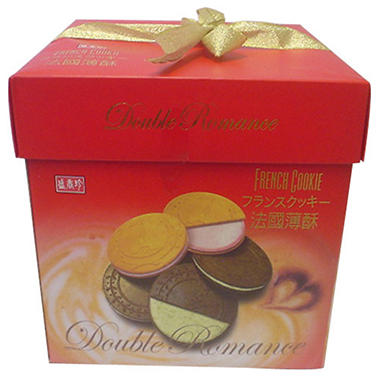 Double Romance French Cookie Gift Box - Strawberry and Vienna Coffee