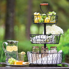 Twist Chicken Wire 3-Tier Basket
