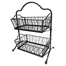 Two-Tier Chicken Wire Basket Stand