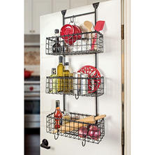 Grid Over the Door 3 Basket Organizer