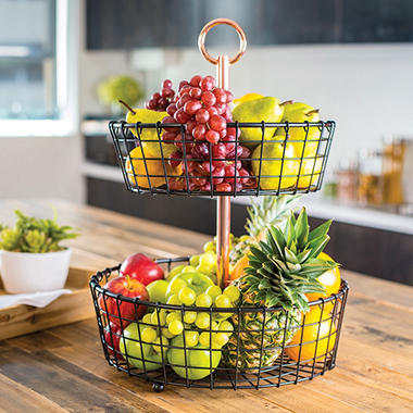 Two Tier Wire Basket Stand Choose Your Style