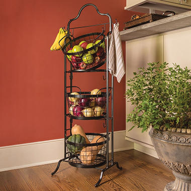 3 Tier Floor Stand Bushel Basket